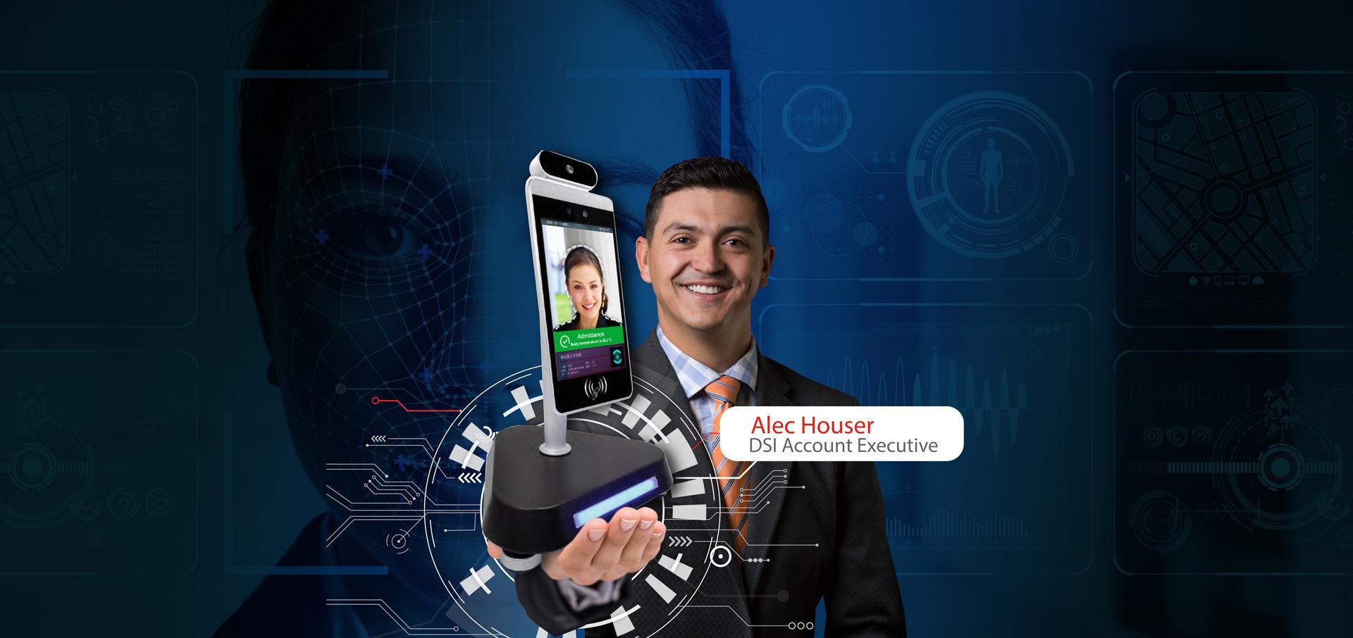 DSI executive holding Go Safe technology